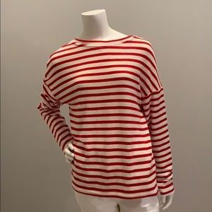 H & M red & white striped sweater